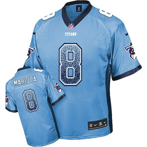 686a563c Nike Titans #8 Marcus Mariota Light Blue Team Color Men's Stitched ...