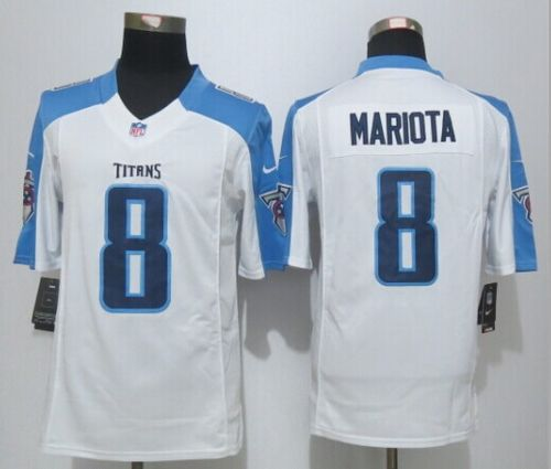 9495c4ca4 Nike Titans  8 Marcus Mariota White Men s Stitched NFL Limited Jersey